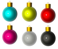 Isolated from the white-colored Christmas balls Royalty Free Stock Photos