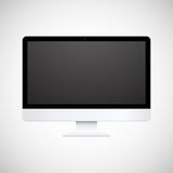 Isolated white computer display Stock Images