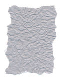 Isolated on white crumpled gray paper Royalty Free Stock Images