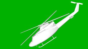 isolated white 3d rendering of a helicopter on a green backgroun Stock Photography