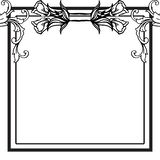 Isolated on a white, floral frame for ornament birthday cards. Vector. Illustration royalty free illustration