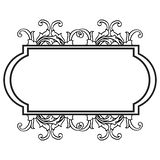 Isolated on a white, floral frame for ornament birthday cards. Vector. Illustration stock illustration
