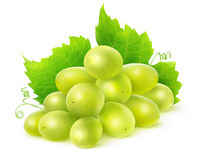 Isolated white grapes Stock Photos