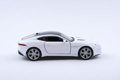 Isolated White luxury car model on a white background Royalty Free Stock Images