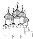 Isolated on white orthodox church sketch Royalty Free Stock Photos