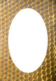 Isolated white oval  honeycomb mesh background Royalty Free Stock Photo