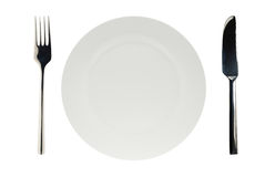 Isolated white plate Royalty Free Stock Image