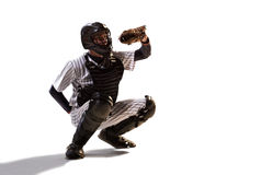 Isolated on white professional baseball player Stock Photo