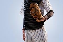 Isolated on white professional baseball player Stock Image