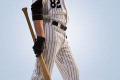Isolated on white professional baseball player royalty free stock photography