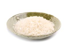 Isolated white rice in bowl Royalty Free Stock Images