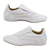 Isolated white sport shoes Stock Photo