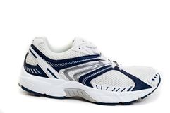 Isolated white sport shoes Royalty Free Stock Photos