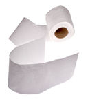 Isolated white toilet pape Royalty Free Stock Photo
