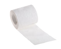 Isolated white toilet paper roll Stock Photography