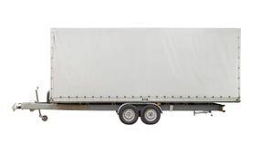 Isolated white trailer Royalty Free Stock Image