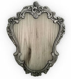 Isolated white wooden Ornate Frame with backing board Stock Image