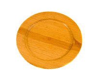 Isolated on white wooden plate Stock Images