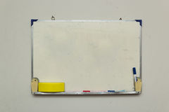 Isolated whiteboard with other tools Royalty Free Stock Photos