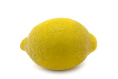 Isolated Whole Lemon. Lemon: Straight Product Shot taken in Studio in Natural Light isolated against White Background royalty free stock images
