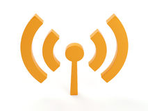 Isolated wi fi (wireless) icon Royalty Free Stock Images