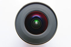 Isolated wide angle lens Stock Image