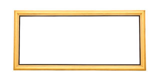 Isolated wide gold painting frame Royalty Free Stock Photos