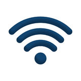 Isolated wifi weaves design Stock Photography