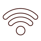 Isolated wifi weaves design Royalty Free Stock Image