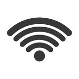 Isolated wifi weaves design Royalty Free Stock Images
