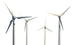 Isolated wind turbines Stock Images