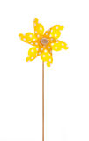 Isolated windmill for summer - yellow like a sun Royalty Free Stock Image