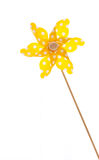 Isolated windmill for summer - yellow like a sun Stock Image