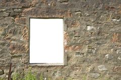 Isolated window. Window frame in ruined wall with isolated cut-out stock photos