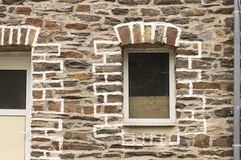 Isolated window  in a brick wall Germany, Europe royalty free stock photography