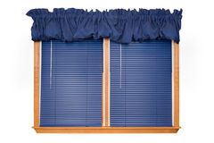 Isolated Window w/ Blinds (clipping path). A double window with blinds isolated on white (clipping path Stock Photo