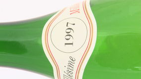 Isolated wine bottle stock footage