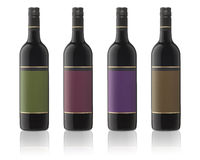 Isolated Wine Bottles Royalty Free Stock Image