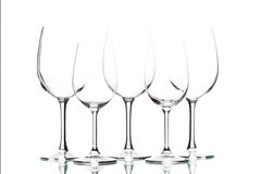 Isolated wine glasses on white.  Royalty Free Stock Photos