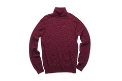 Isolated wine red turtleneck sweater Stock Image