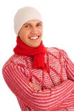 Isolated winter man Royalty Free Stock Photo
