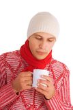 Isolated winter man Royalty Free Stock Photo