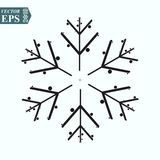 Isolated Winter Snow Outline Symbol On Clean Background. Vector Snowflake Element In Trendy Style. Eps10 stock illustration