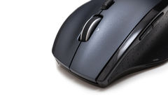 Isolated wireless computer mouse macro Royalty Free Stock Photos