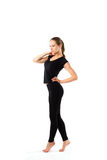 Isolated woman wearing sportswear Stock Image