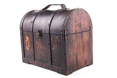 Isolated Wood Chest Royalty Free Stock Images