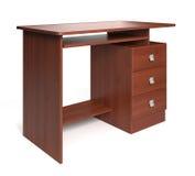 Isolated wood desk. Stock Image