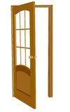 Isolated wood door illustration Stock Photography