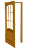Isolated wood door illustration royalty free illustration