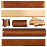 Isolated Wood Elements Royalty Free Stock Images